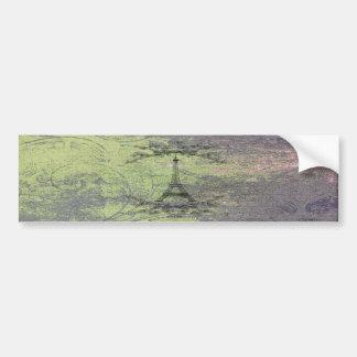 Vintage Eiffel Tower Bumper Sticker