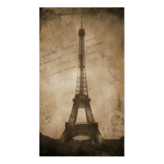 vintage eiffel tower business cards