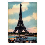 Vintage Eiffel Tower Card