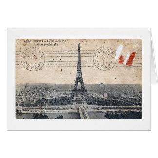 Vintage Eiffel Tower Greeting Cards