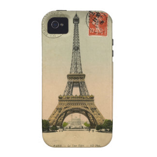 Vintage Eiffel Tower Case-Mate iPhone 4 Cases