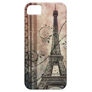 vintage eiffel tower damask swirls girly paris iPhone 5 cases