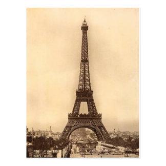 Vintage Eiffel Tower Design Postcard