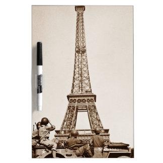 Vintage Eiffel Tower Dry-Erase Board