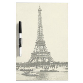 Vintage Eiffel Tower in Paris France Dry-Erase Board