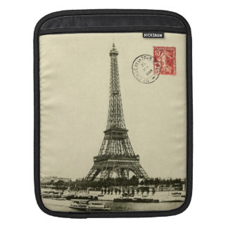 Vintage Eiffel Tower in Paris France Sleeves For iPads