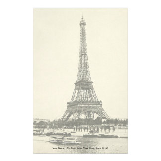 Vintage Eiffel Tower in Paris France Stationery