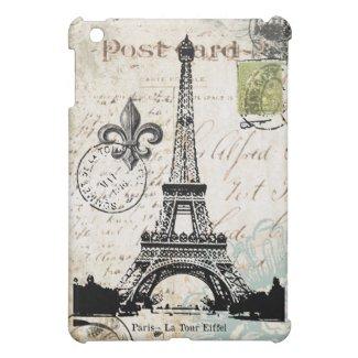 Vintage Eiffel Tower ipad mini case