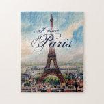 Vintage Eiffel Tower Jigsaw Puzzles