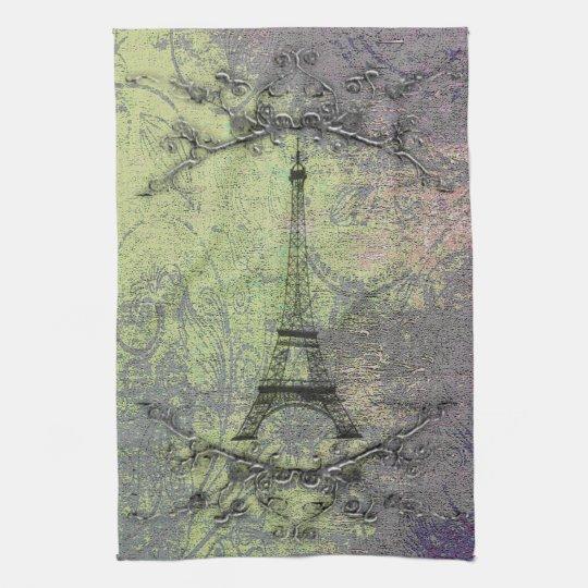 Vintage Eiffel Tower Kitchen Towel