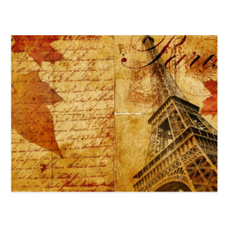Vintage Eiffel Tower Lettering Post Cards
