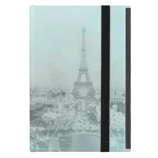 Vintage Eiffel Tower Light Blue iPad Mini Case