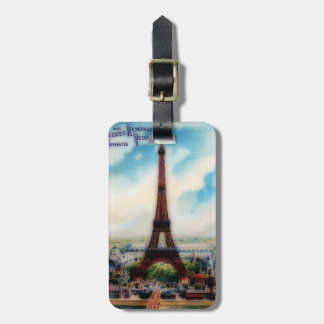 Vintage Eiffel Tower Luggage Tag