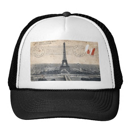 Vintage Eiffel Tower Mesh Hat