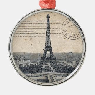 Vintage Eiffel Tower Metal Ornament