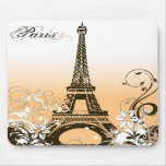 Vintage Eiffel Tower Mouse Pad