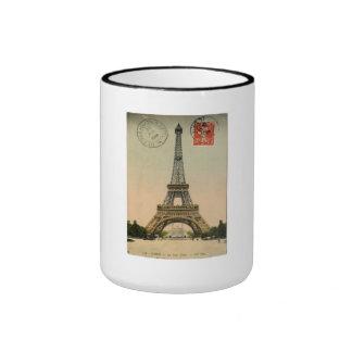 Vintage Eiffel Tower Ringer Coffee Mug