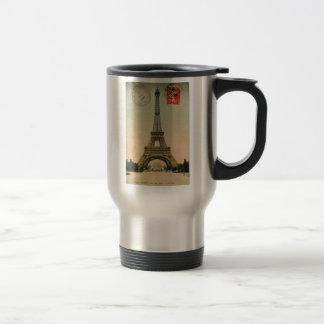 Vintage Eiffel Tower 15 Oz Stainless Steel Travel Mug
