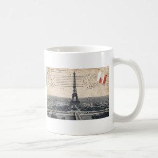Vintage Eiffel Tower Coffee Mugs