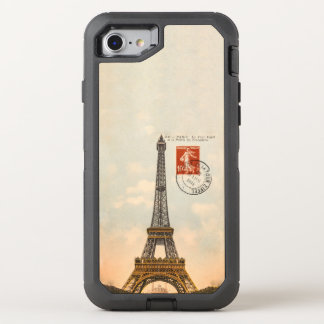 Vintage Eiffel Tower OtterBox Defender iPhone 6/6s OtterBox Defender iPhone 7 Case