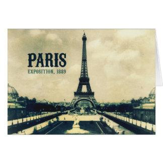 Vintage Eiffel Tower, Paris, 1889 Card