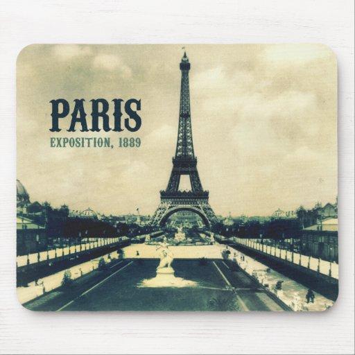 Vintage Eiffel Tower, Paris, 1889 Mousepad