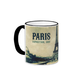 Vintage Eiffel Tower, Paris, 1889 Coffee Mugs