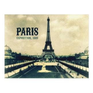 Vintage Eiffel Tower Paris 1889 Postcard