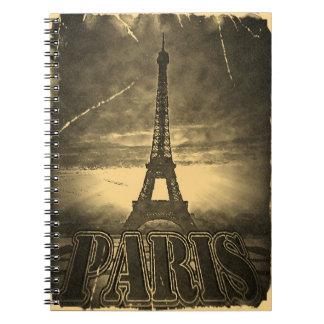 Vintage Eiffel Tower Paris #2 - notebook
