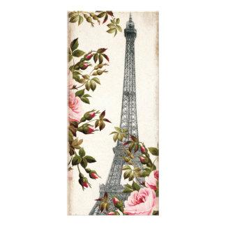 Vintage Eiffel Tower Paris Bookmarks Custom Rack Card