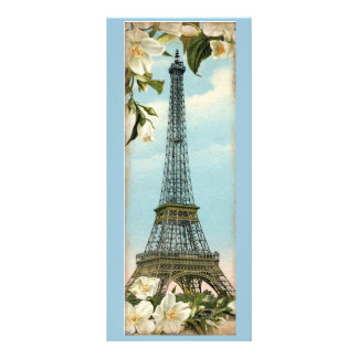 Vintage Eiffel Tower Paris Bookmarks Full Color Rack Card