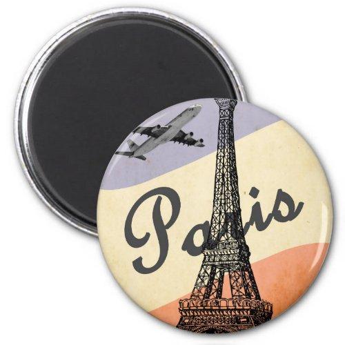 Vintage Eiffel Tower Paris European Air Travel Magnet