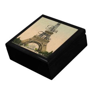 Vintage Eiffel Tower Paris France Poscard -giftbox Jewelry Box