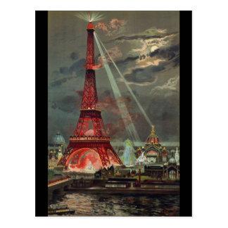 Vintage Eiffel Tower Paris France Postcard