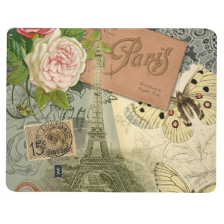 Vintage Eiffel Tower Paris France Travel collage Journal
