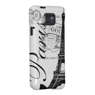"Vintage Eiffel Tower ""Paris"" Illustration Samsung Galaxy S2 Cover"