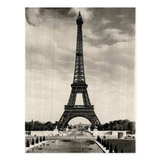 Vintage Eiffel Tower Paris Postcard
