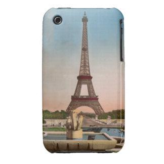 Vintage Eiffel Tower Paris Postcard iPhone 3 Covers