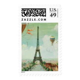 Vintage Eiffel Tower Paris Stamps