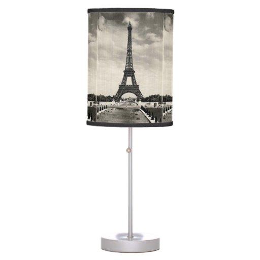 vintage eiffel tower paris table lamp zazzle. Black Bedroom Furniture Sets. Home Design Ideas