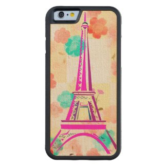 Vintage Eiffel Tower- Paris Carved® Maple iPhone 6 Bumper