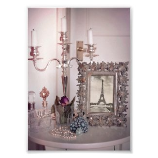 Vintage Eiffel Tower Photo Frame