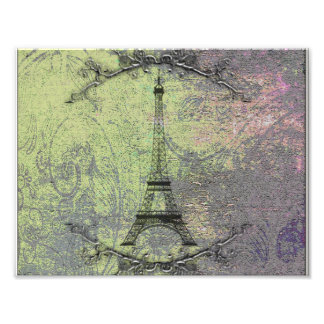 Vintage Eiffel Tower Photographic Print
