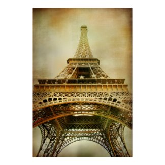 Vintage Eiffel Tower Photograph Posters