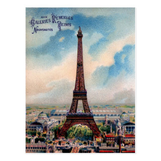 Vintage Eiffel Tower Post Card Paris