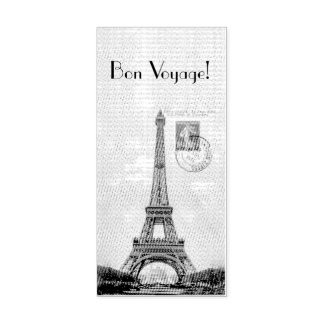 Vintage Eiffel Tower Post Card STamp