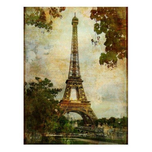Vintage Eiffel Tower Post Cards