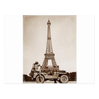 Vintage Eiffel Tower Postcard