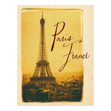 sumners vintage eiffel tower postcard