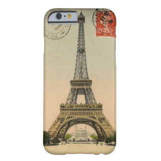 Vintage Eiffel Tower Postcard Barely There iPhone 6 Case